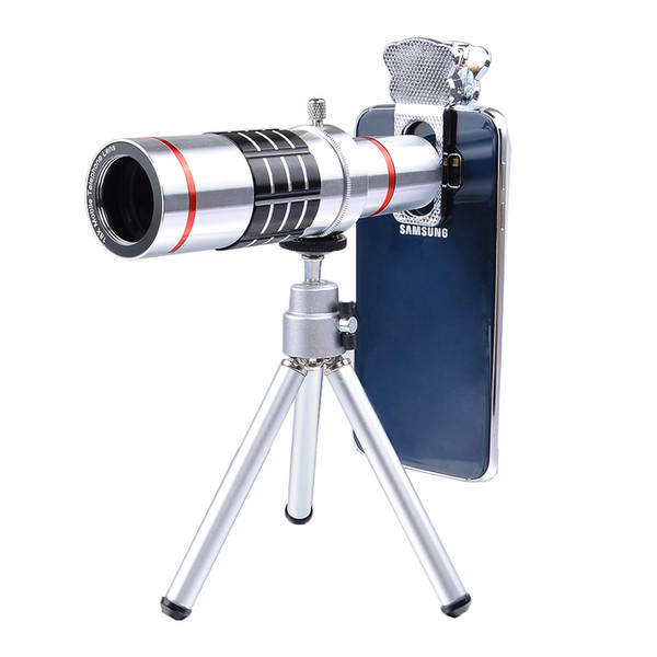 APEXEL universal 18x Optical Telescope Mobile Telephoto zoom Lentes with Tripad for Samsung S8 plus Xiaomi more phone LX18X lens