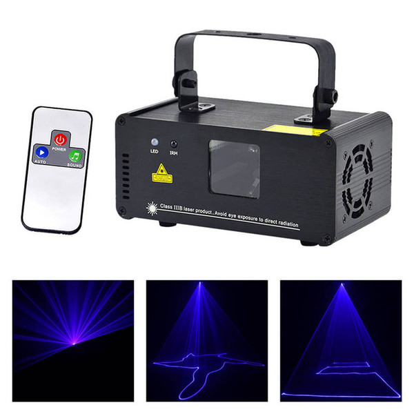 AUCD New Mini Portable 8 CH DMX Scanner laser blu Effetto scenografico Illuminazione DJ Party Club Show LED ProjectorLights DM-B150