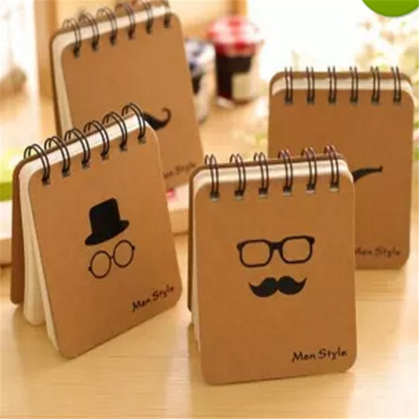 300pcs/lot* Retro Design Men Style loose-leaf Memo Pads Coil Book Portable Pocket Notebook Diary Notepad, Size 10*8.5cm a904-a911