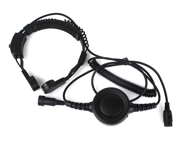 Military Covert Earpiece Grade Tactical Throat Mic Armpit PTT Headset with Finger PTT for KENWOOD Radio BF-UV5R C0200A Alishow