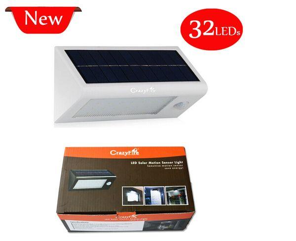 Super Bright 32 LEDs Solar Light Outdoor Solar Powered Led Garden Wall Lamp Waterproof Solar Lights Lantern with Motion Sensor