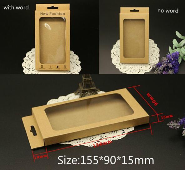 Promozione Carta kraft con imballaggio al dettaglio vuoto con vassoio interno Imballaggio per iPhone 6 Custodia rigida in pelle per Samsung Galaxy s4 s5