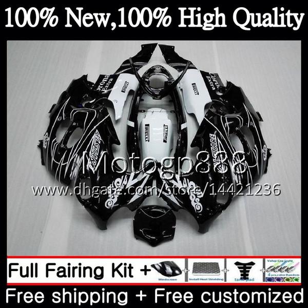 Cuerpo negro CORONA para SUZUKI KATANA GSXF 600 750 GSXF600 98 99 00 01 02 21G817 GSX600F GSXF750 1998 1999 2000 2001 2002 Carenado de motocicleta