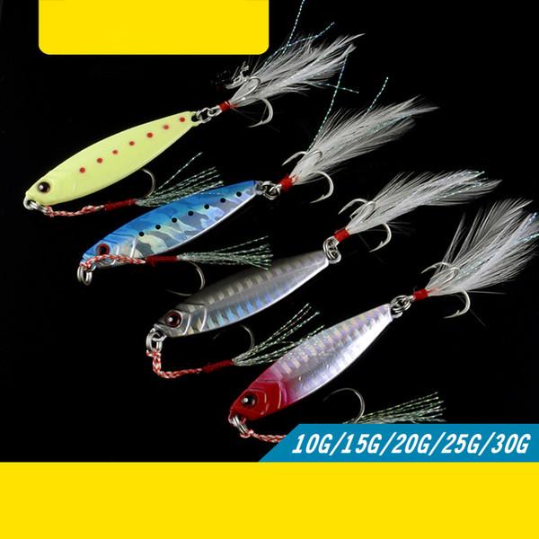 Japan Series Fishing Lure Jigbait Metal Artificial Lures Freshwater Culter Bass Ocean Catch Mackerel 15g-30g Quality Sharp Hook