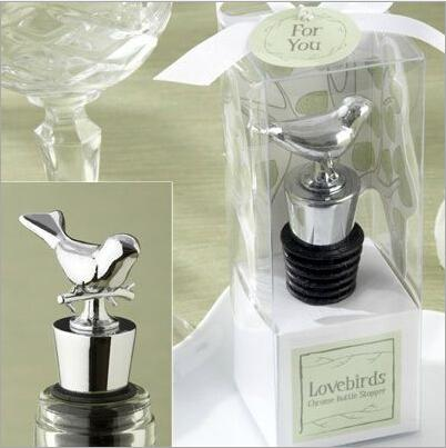 New Arrival Exquisite Box Packing Love Bird Wine Stopper Metal Bottle Opener For Wedding Favor Supplies Free Shipping