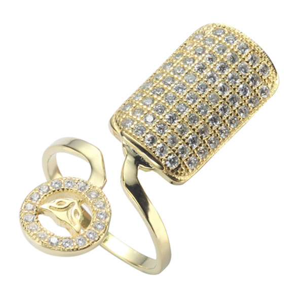 925 sterling Silver Explosion models Nail ring S-3759(3760) White Cubic Zirconia Wholesale Best Sellers Recommend Promotion The new product