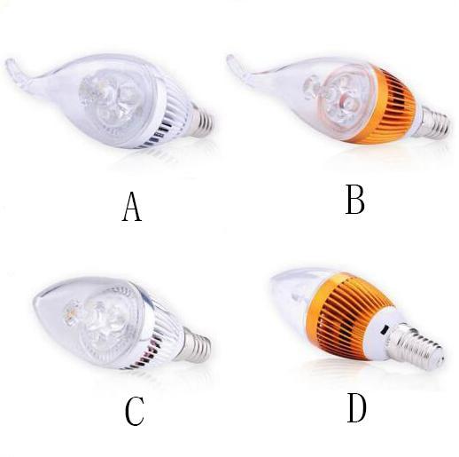 Dimmable 9W Cree LED bougie ampoule E14 E12 E27 lampe haute puissance led downlight led lampes lustre éclairage 110-240V CE ROHS 30