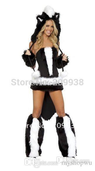 wholesale hot sell sexy cat girl costume halloween costumes for women women s fur