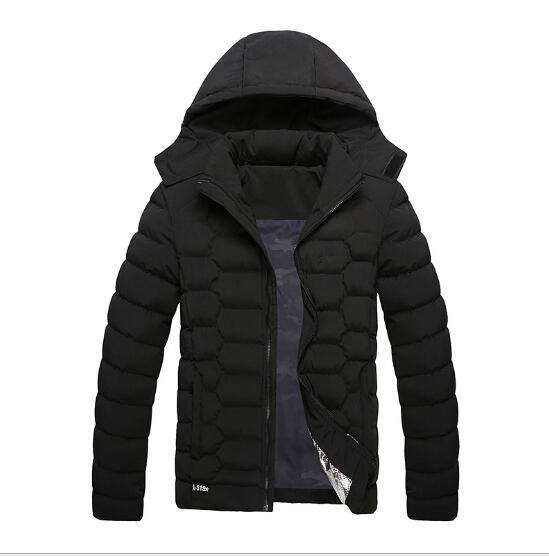 Brand Men Winter Warm Down Jackets Cotton Padded Jacket Sport coat Hooded Padded Parkas with logo Clothing