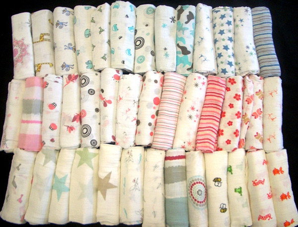 top popular 47*47inch muslin blanket aden anais baby swaddle wrap blanket blanket towelling baby spring summer baby infant blanket free fedex shipping 2020