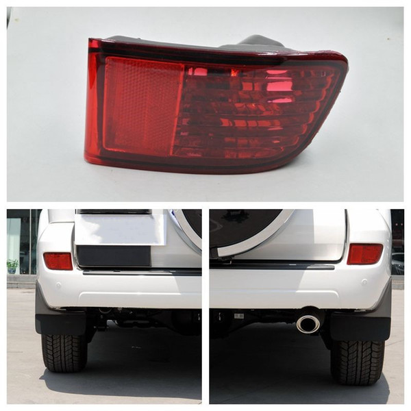 top popular For Toyota Land Cruiser Prado 120 Series GRJ120 TRJ120 FJ120 Car Rear Bumper Light Fog Lamp 2002-2009 Accessories 2021