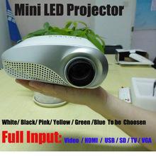 Freies DHL 200lumens 3D Miniprojektor LED elektrisches lautes Summen bewegliches Video Pico Mikro Miniprojektor HDMI USB Handels VGA Fernsehapparat Tuner Stativ
