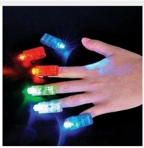 Finger Lights a LED bianchi, 4 colori Laser Finger Lamp per Party Birthday Christmas Decoration Halloween Party Dress