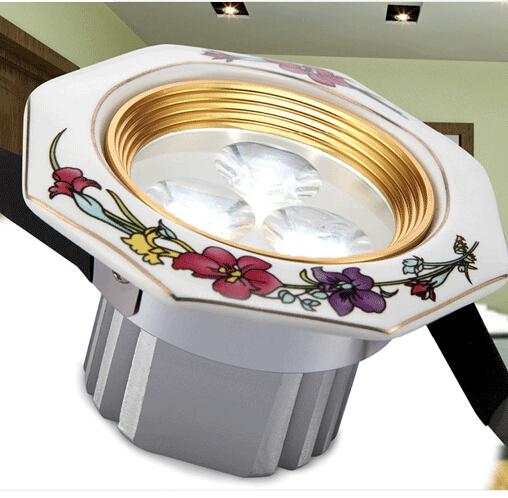 Hot Sale Special Offer Warm White Cool White Luces Led Spot Led Rose Series Ceramic Light Quality Downlight Modern Brief Rustic Lamp 3w