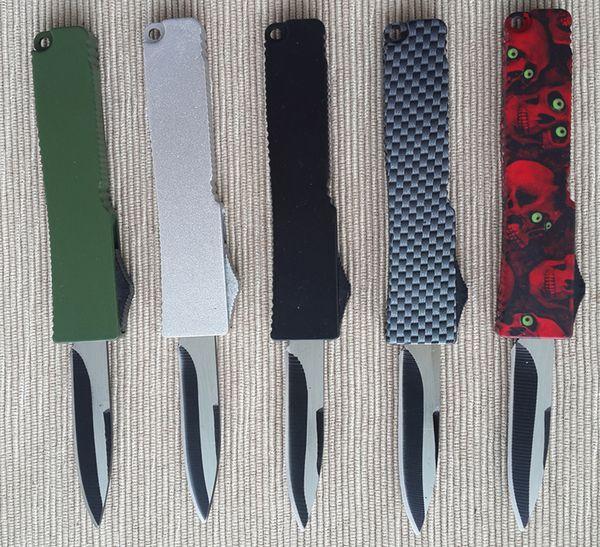Top qualità in lega di zinco-alluminio manico 440 lama in acciaio chiave fibbia coltello in fibra di carbonio coltello pieghevole mini edc tasca coltello da campeggio d134q
