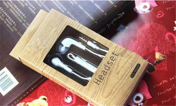 Наушники-вкладыши с микрофоном Дистанционный плоский кабель для Samsung Galaxy S4 i9500 Белые наушники-вкладыши Гарнитура с регулятором громкости в розничной упаковке