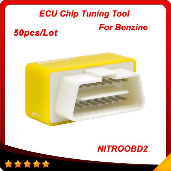 2016 New Arrival Plug and Drive NitroOBD2 Performance Chip Tuning Box for Benzine Cars 50pcs/lot DHL free