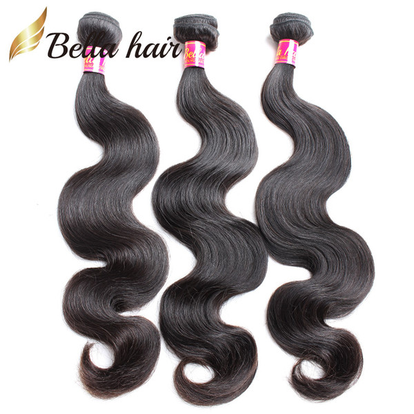 best selling Bellahair Brazilian Hair Extensions Unprocessed Human Virgin Hair Weft Indian Malaysian Peruvian 3pcs Double Weft Body Wave Hair Bundles