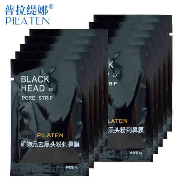 best selling DHL Free Shipping PILATEN Facial Minerals Conk Nose Blackhead Remover Mask Pore Cleanser Nose Black Head EX Pore Strip A-0200