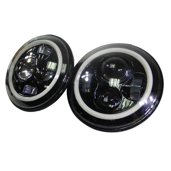 7inch 40w Round Cree H4 LED Headlight for Jeep Wrangler Front Driving Headlamp Car Styling Head Light for Jeep
