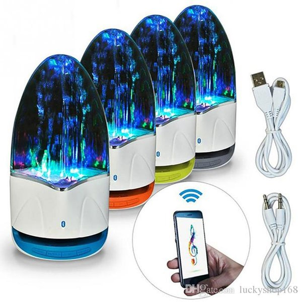 Music Fountain Wireless Speaker TF 3.5mm Colorful Light Bluetooth Audio Amplifier LED Water Dancing Speaker for Phone Computer DHL