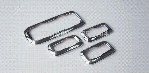 Türinnenzubehör, innere Fensterheber-Schaltknopfleisten für Ecosport 2013 2014, ABS-Chrom, kostenloser Versand M22906