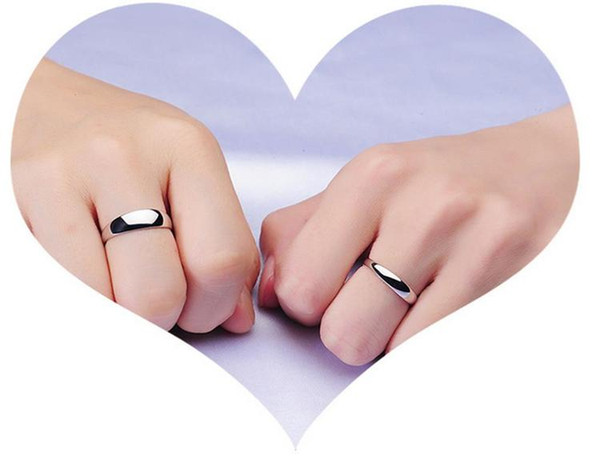 New 925 Sterling silver Ring Pure Love Rings For Couples Jewelry Beautiful Wedding /Engagement Gift Free Shipping Various Size