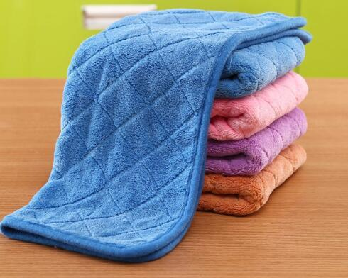 Double thickening coral cashmere rags wipe the floor cleaning cloth flat mop replacement cloth household cleaning tools cleaning cloth