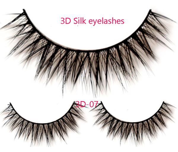 3D-07 False Eyelashes Handmade Natural Long False Eyelashes Soft Fake Eye Lash 3D Glam Volume Sexy Eyelash extension 3Pair/set
