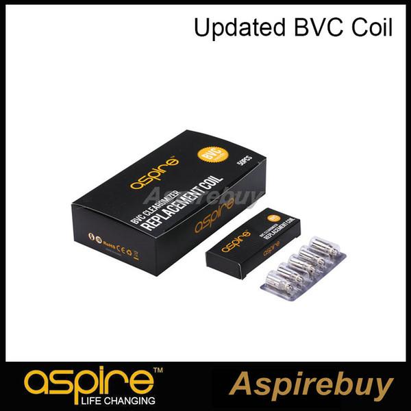 best selling 100% Authentic original Aspire Aspire BVC Coils Dual Coils for Aspire CE5 CE5-S ET ET-S Clearomizer BDC updated coil Electronic Cigarette