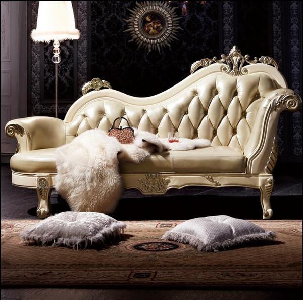 Großhandel Heißer Verkauf Sofa Französisch Design Echtes Leder Sofas  Wohnzimmer Möbel Sofa Echtes Leder Chaise Lounge 1968 Von Tengtank, $854.28  Auf ...