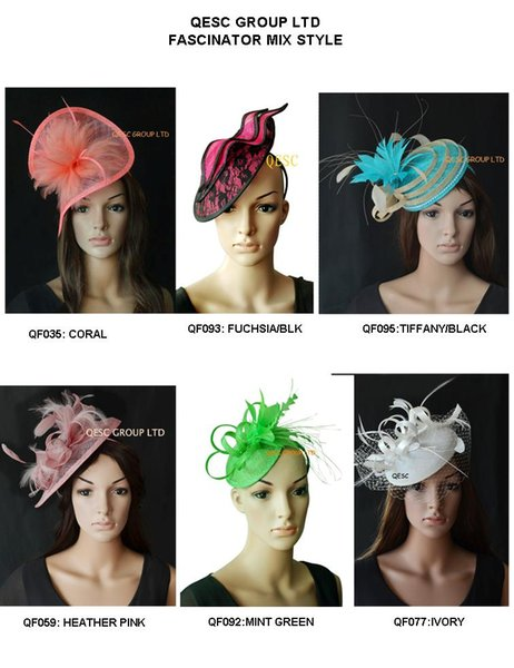 top popular Mix styles Sinamay fascinator with feathers for kentucky derby,party,wedding. 2019