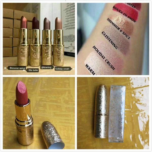 Snow Ball Lipstick 5 Colors Matte Lipstick Holiday Crush Elle Belle Shimmer Glitening 3g Dhl Free Ship