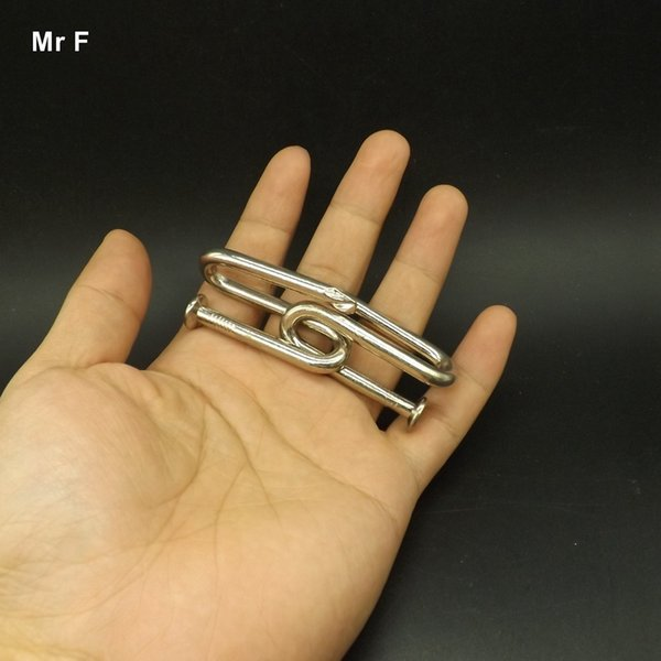 Collected Wire Ring Puzzle Iron Nail Classic IQ Brain Teaser Magic Game Toy For Children Kids