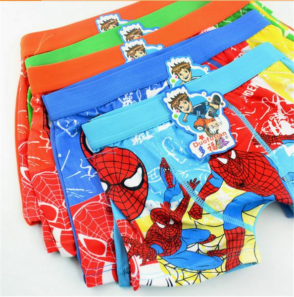 top popular Spiderman Underwear Boxers Boys Cartoon Characters Cotton Briefs Underpants Kids Clothes Clothing Underpant Underwears Panties 12 lot 2019