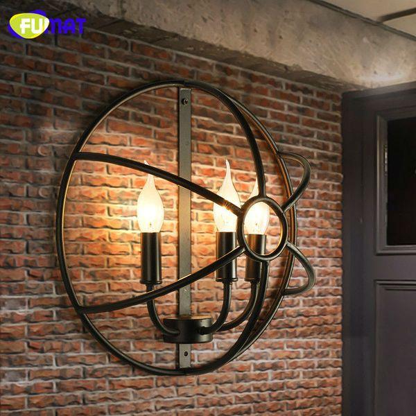 FUMAT Çatı Duvar Lambaları Amerikan Country Retro Lamba Industiral Koridor Aydınlatma Duvar Işıkları Demir Aplik Bar Vintage Duvar Lambası
