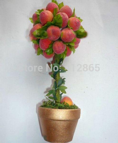 Top qualité (Xinjiang) petit arbre en pot graines de pêche à plat 10 Pcs, tout à gagner si le roi, délicieux fruits