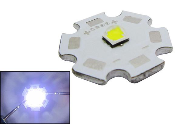 Cree XP-L XPL 6500k blanco llevó la luz del microprocesador con el tablero blanco del PWB 20MM / 16MM PCB Board