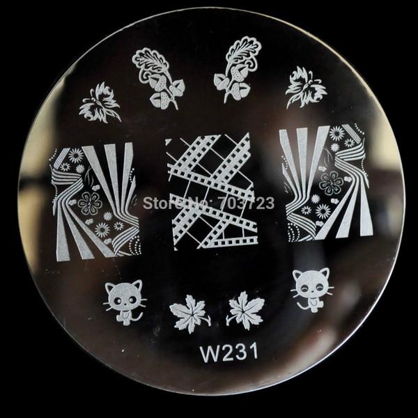 Wholesale fashion design w series image konad nail art stamping wholesale fashion design w series image konad nail art stamping nail printing templates cartoon cat prinsesfo Images