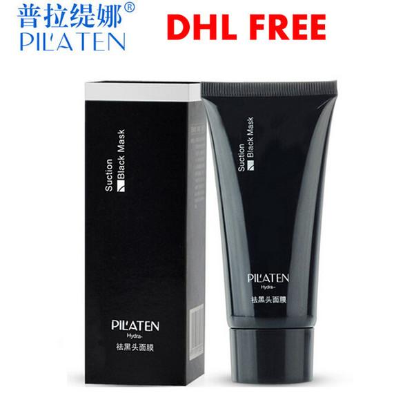top popular 100pcs lot PILATEN Blackhead Remover Deep Cleansing Purifying Peel Acne Treatment Mud Black Mud Face Mask 2021