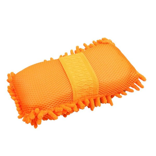 Wholesale- Ultrafine Fiber Chenille Car Wash Gloves Spongers Motorcycle Van Truck Washer Supplies Multi-functional Magic car brush