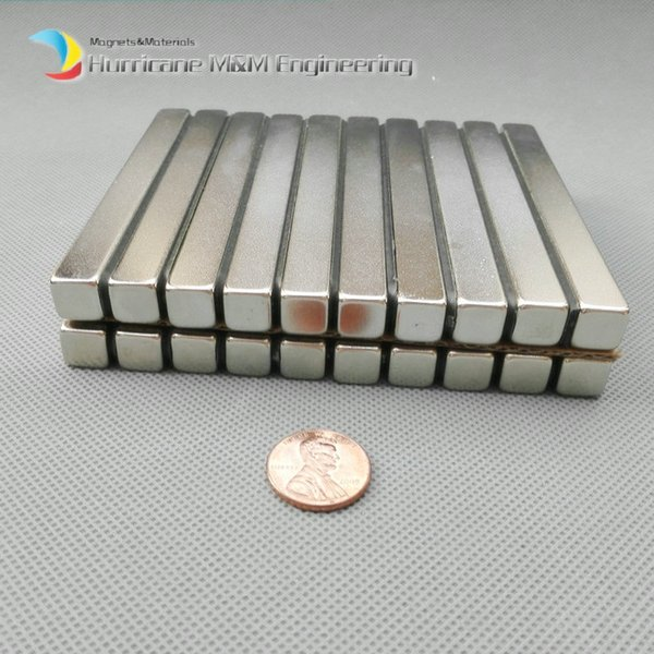 """1 Pack Grade N52 NdFeB Block 100x10x10 mm about 3.94"""" Rectangle Bar Strong NdFeB Bar Neodymium Permanent Magnets Industry Magnets"""