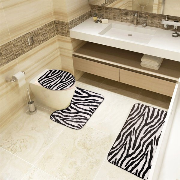 Swell 2019 Deal Black And White Zebra Bathroom Carpet Set Of Toilet Seat Lid Cover Bath Mat For Toilet From Florallord 6 07 Dhgate Com Machost Co Dining Chair Design Ideas Machostcouk