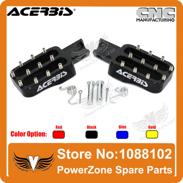 ACERBIS Billet CNC Foot Pegs Pedals Foot Rests Fit KAYO IRBIS CRF KLX Pit Pro BSE BAJA Dirt Bike Motorcycle Free Shipping