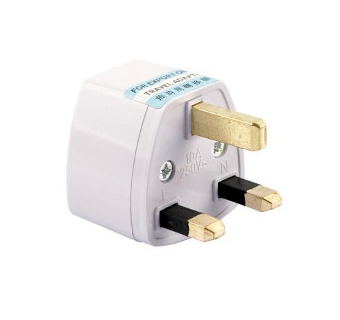 Adaptador estándar del Reino Unido 10pcs Adaptador universal del viaje del adaptador de corriente alterna de USAUEU a Reino Unido