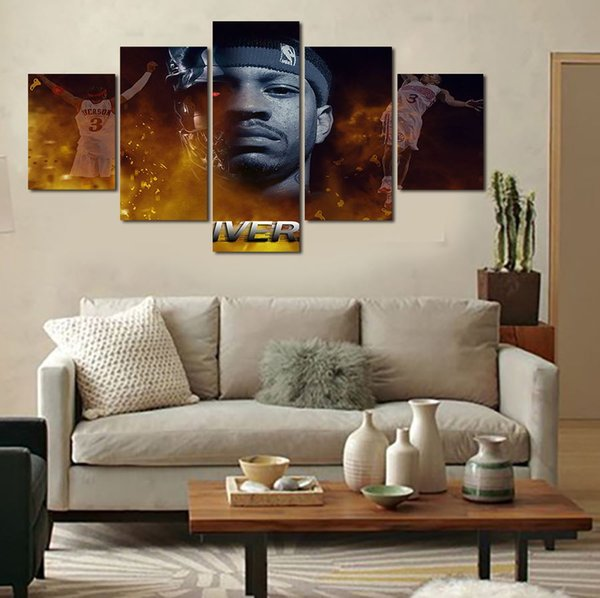 5 Pcs Wall Art Abstract Flower Modern HD Picture Home Decoration Living Room Canvas Print Painting Canvas Picture Free Delivery