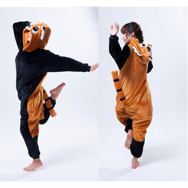 2019 Crazy Raccoon Animal Onesies Adult Onesies Costume Pyjamas Women  Ladies Animal Onesies Pyjamas Anime Cosplay Kigurumi Animal Costumes From