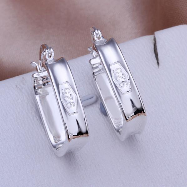 Marca nova placa de prata esterlina '925 pregos quadrados DFMSE280, 925 mulheres de prata Dangle brincos Lustre 10 pares a lo tfactory direto