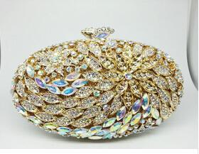 Подарочная Коробка Леди Старинные Роскошные Алмазные Вечерние Сумки Настоящее Позолоченные Женщины Кристалл Цветок Клатч Для Свадьбы Свадебные Клатчи