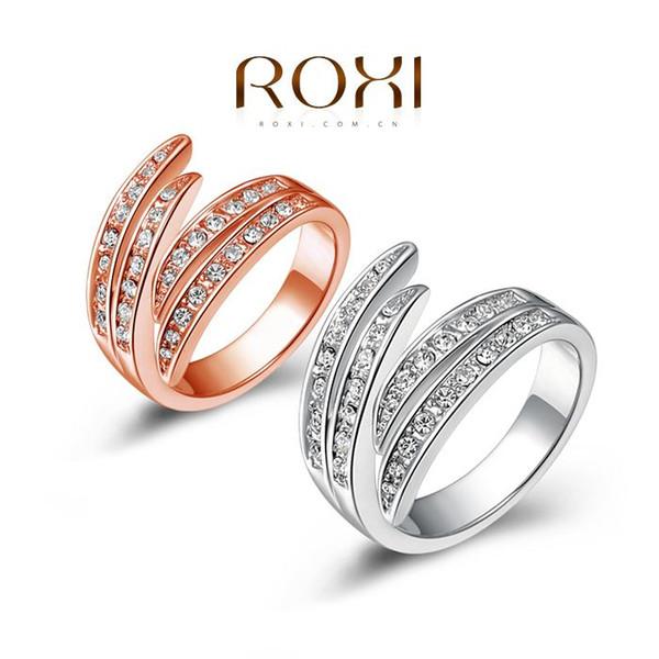 ROXI Weihnachtsgeschenk roségold / platiniert Ring, Austrian Crystals Ring Nickelfrei Antiallergic Factory Preise